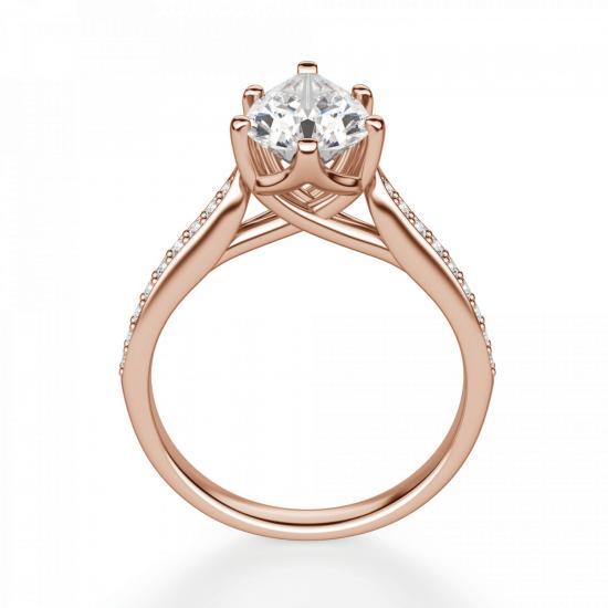 Кольцо с бриллиантами Груша,  Больше Изображение 2