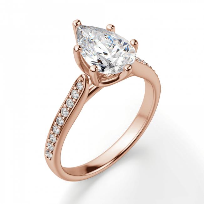Кольцо с бриллиантами Груша