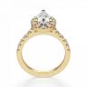 Кольцо из золота с бриллиантом груша в ореоле, Изображение 2