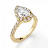 Кольцо из золота с бриллиантом груша в ореоле, Изображение 3