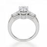 Кольцо с овальным бриллиантом и боковыми багетами, Изображение 2