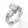 Кольцо с овальным бриллиантом и боковыми багетами, Изображение 4
