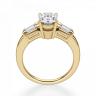 Кольцо с овальным бриллиантом и дополнительными камнями, Изображение 2