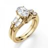 Кольцо с овальным бриллиантом и дополнительными камнями, Изображение 4