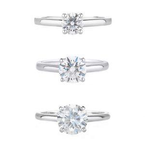 Кольцо с бриллиантом 1 карат из платины