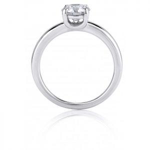 Кольцо с бриллиантом 0.5 карата из платины