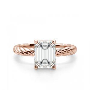 Кольцо с бриллиантом Эмеральд на плетеной шинке