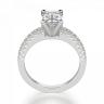 Кольцо c бриллиантом изумрудной огранки паве, Изображение 2