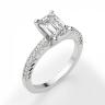 Кольцо c бриллиантом изумрудной огранки паве, Изображение 3