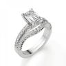 Кольцо c бриллиантом изумрудной огранки паве, Изображение 5