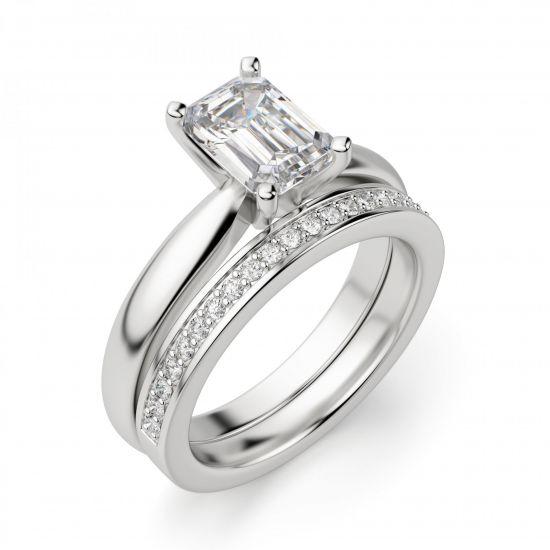 Кольцо с прямоугольным бриллиантом,  Больше Изображение 2