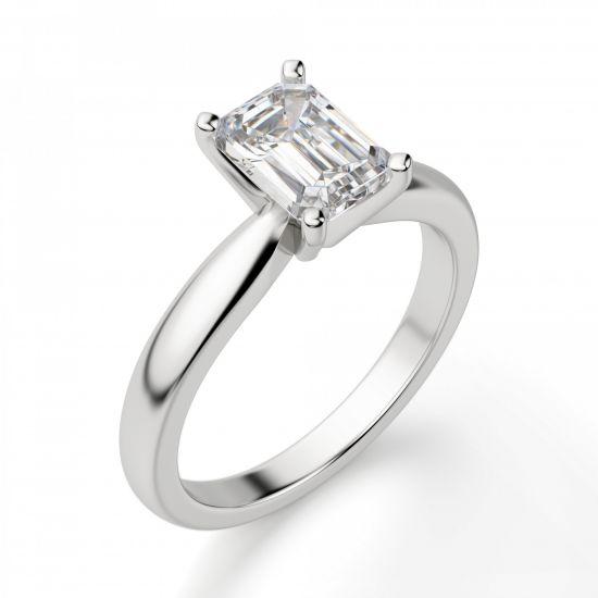 Кольцо с прямоугольным бриллиантом,  Больше Изображение 3