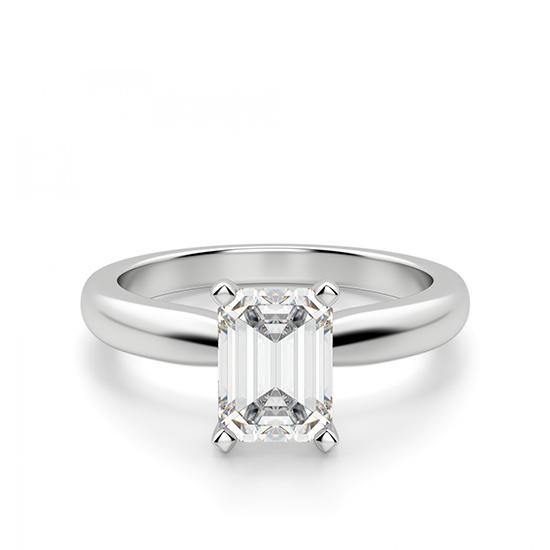 Кольцо с прямоугольным бриллиантом, Больше Изображение 1
