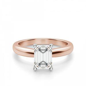 Классическое кольцо с прямоугольным бриллиантом