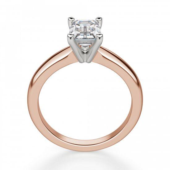 Классическое кольцо с прямоугольным бриллиантом,  Больше Изображение 2