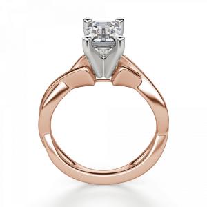 Кольцо плетеное с бриллиантом эмеральд