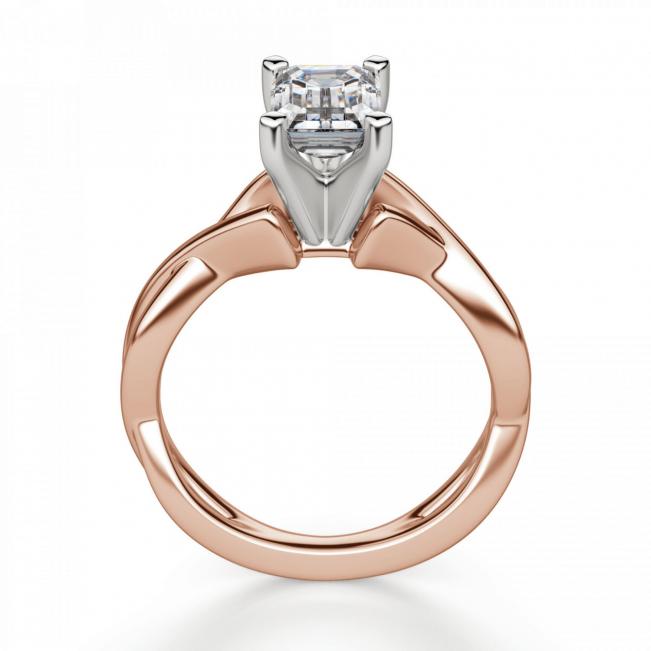 Кольцо плетеное с бриллиантом эмеральд - Фото 1