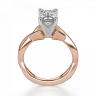 Кольцо плетеное с бриллиантом эмеральд, Изображение 2