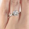 Кольцо плетеное с бриллиантом эмеральд, Изображение 7