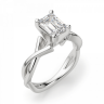 Кольцо с переплетением с бриллиантом эмеральд, Изображение 3