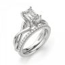 Кольцо с переплетением с бриллиантом эмеральд, Изображение 5