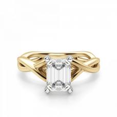 Кольцо плетеное из золота бриллиантом эмеральд