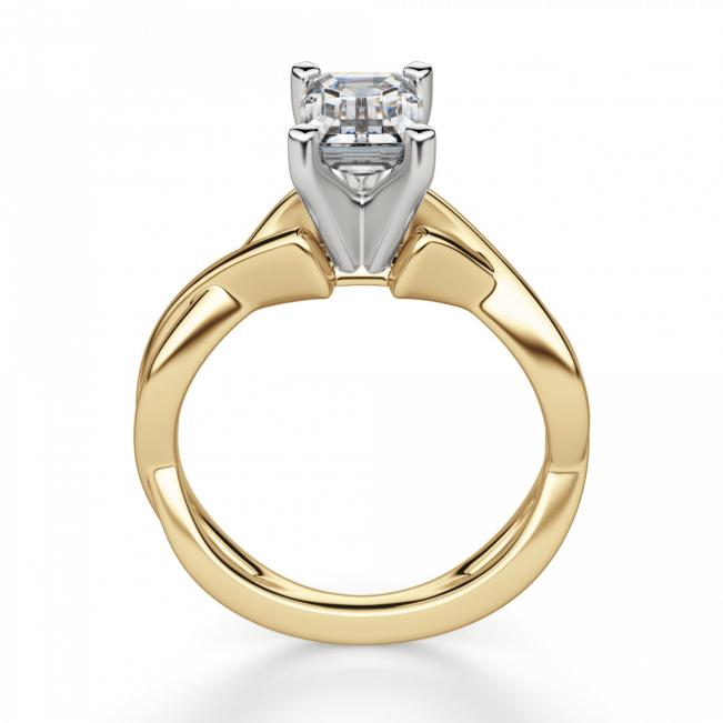 Кольцо плетеное из золота бриллиантом эмеральд - Фото 1