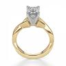 Кольцо плетеное из золота бриллиантом эмеральд, Изображение 2