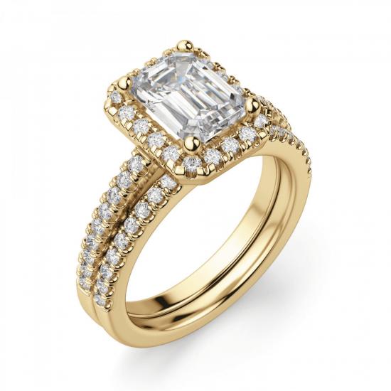 Кольцо золотое бриллиантом эмеральд,  Больше Изображение 5