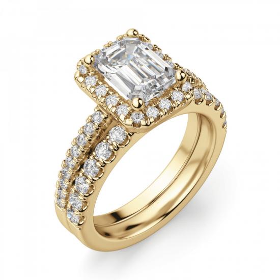 Кольцо золотое бриллиантом эмеральд,  Больше Изображение 6