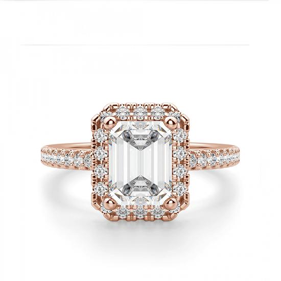 Кольцо бриллиантом эмеральд, Больше Изображение 1