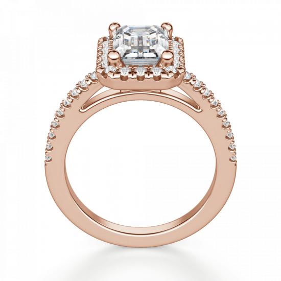 Кольцо бриллиантом эмеральд,  Больше Изображение 2