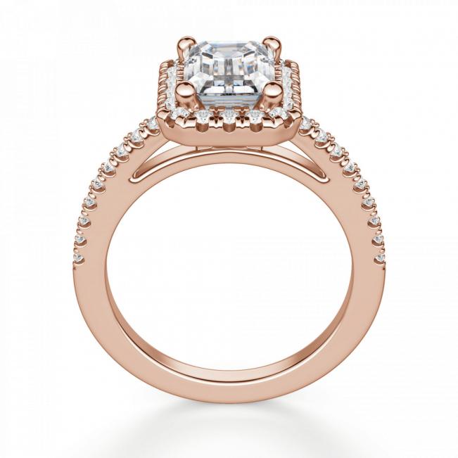 Кольцо бриллиантом эмеральд