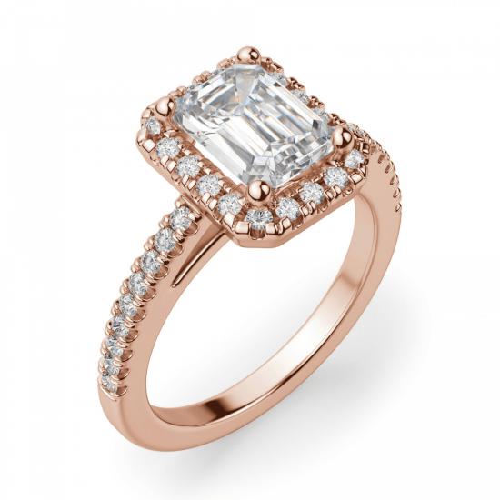 Кольцо бриллиантом эмеральд,  Больше Изображение 3