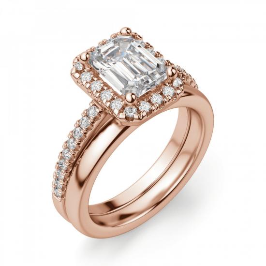 Кольцо бриллиантом эмеральд,  Больше Изображение 4