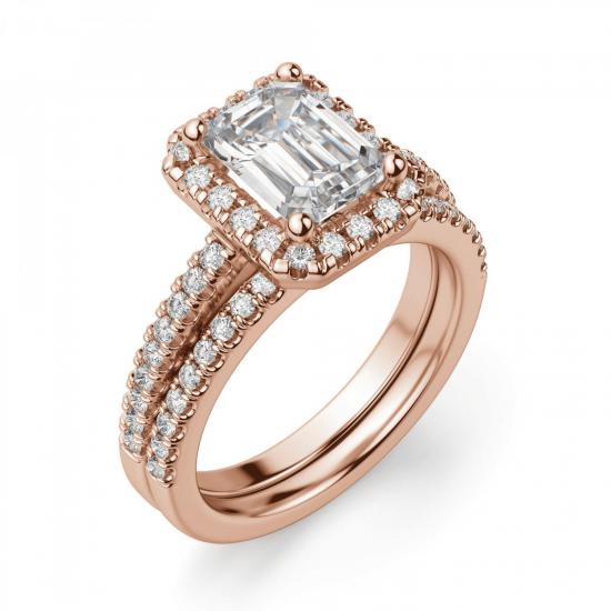 Кольцо бриллиантом эмеральд,  Больше Изображение 5