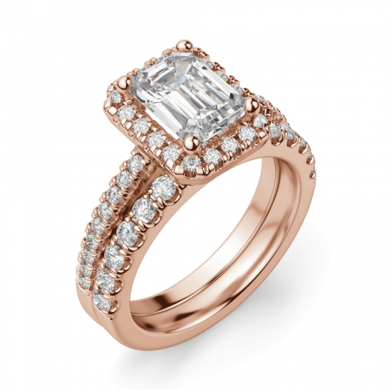 Кольцо бриллиантом эмеральд,  Больше Изображение 6