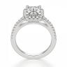 Кольцо бриллиантом эмеральд в ореоле, Изображение 2
