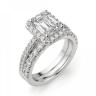Кольцо бриллиантом эмеральд в ореоле, Изображение 6