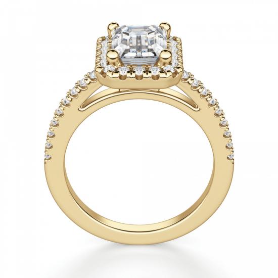 Кольцо золотое бриллиантом эмеральд,  Больше Изображение 2