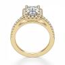 Кольцо золотое бриллиантом эмеральд, Изображение 2