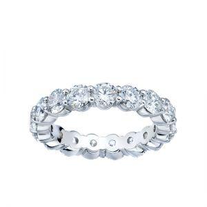 Кольцо дорожка с бриллиантами по кругу из белого золота