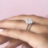 Кольцо с овальным бриллиантом и 3й дорожкой, Изображение 6