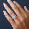 Кольцо с овальным бриллиантом и 3й дорожкой, Изображение 5