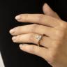 Кольцо из 2 видов золота с бриллиантом Принцесса, Изображение 6
