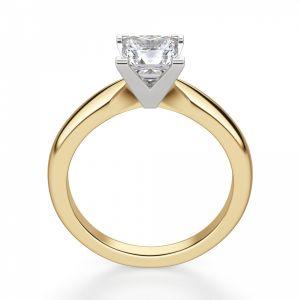 Кольцо из 2 видов золота с бриллиантом Принцесса