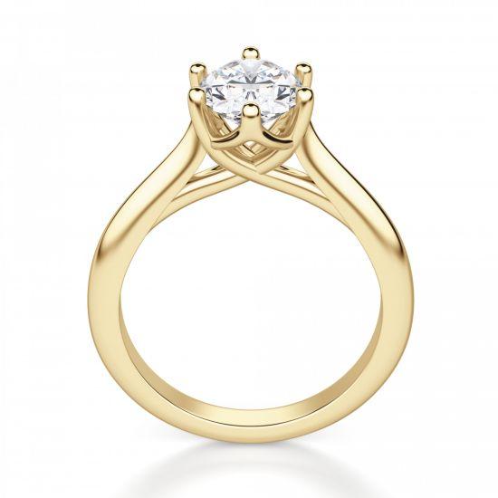 Кольцо солитер с овальным бриллиантом,  Больше Изображение 2