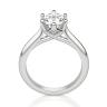 Кольцо солитер с овальным бриллиантом из белого золота, Изображение 2