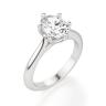 Кольцо солитер с овальным бриллиантом из белого золота, Изображение 3