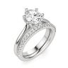 Кольцо солитер с овальным бриллиантом из белого золота, Изображение 5